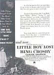 Bing Crosby Claude Dauphin Ad Sheet