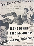 Irene Dunne Fred Macmurray Ad Sheet