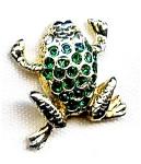 Frog Rhinestone Lapel Pin