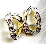 Butterfly Rhinestone Lapel Pin