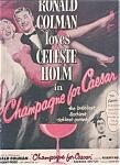 Ronald Colman Celeste Holm Ad Sheet
