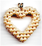 Beaded Heart Valentine Pendant