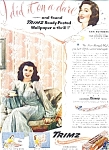 Ann Rutherford - Trimz Wallpaper Ad