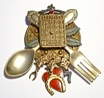 Vintage Bingo Good Luck Brooch Or Pin
