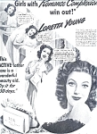 Loretta Young - Lux Toilet Soap Ad Sheet