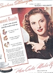 Barbara Stanwyck - Max Factor Ad Sheet