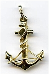 Anchor 14k Gold Pendant