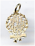 Wife Of The Year 14k Gold Pendant Or Charm