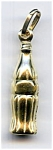 14k Yellow Gold Coca Cola Bottle Puffed Pendant