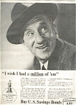 Jimmy Durante - U.s.savings Bonds Ad Sheet