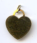 14k Gold Engravable Flat Heart Pendant