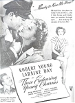 Robert Young, Laraine Day Ad Sheet