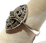 Marcasite Sterling Silver Vintage Ring