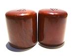 Vintage Wood Salt & Pepper Shakers