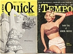 Vintage Tempo And Quick Magazine May 1955