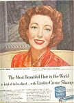 Loretta Young - Lustre-creme Ad Sheet