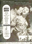 1958 Brando In Michener's Sayonara Ad Sheet