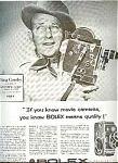 1956 Bolex Movie Camera Ad Sheet -bing Crosby