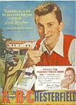 1950 Chesterfield - Kirk Douglas Ad Sheet