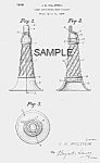 Patent Art: Neat 1940s Horn Candy Container - Matted