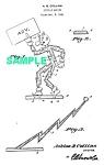 Patent Art: 1940s Reddy Kilowatt Character- Matted