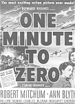 Mitchum Blyth In One Minute To Zero Ad Sheet