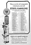 1928 Art Deco Flapper Gas Pump Mag. Ad Cool
