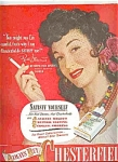 Rise Stevens For Chesterfield Cigarettes Ad