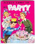 Please Come To My Party - Jolly Book 1952 Scarce