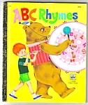 Abc Rhymes - Little Golden Book - 1972