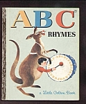 Abc Rhymes Little Golden Book