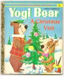 Yogi Bear - A Christmas Visit - 1961 Little Golden Book