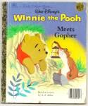 Winnie The Pooh Meets Gopher - Little Golden Book