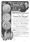1927 Santa Fe Illinois Pocket Watch Ad
