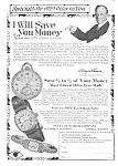 1929 Santa Fe Illinois Pocket Watch Ad