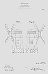 Patent Art: 1910s Windmill Candy Container - Matted