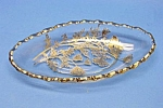 Beautiful Vint. Silver Overlay Long Dish