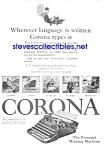 1926 Corona Portable Typewriter Ad