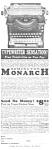 1923 Remington Monarch Typewriter Mag. Ad