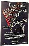 1952 Sheaffer Fountain Pen Color Ad