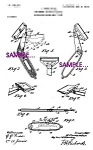 Patent Art:1900s Folding Safety Razor-matted-8x10