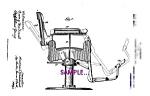 1911 Barber Chair - Artwork - Matted For Framing