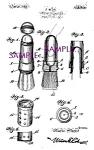 Patent Art: 1920s Shaving Brush Design Barber Shop