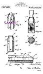 Patent Art: 1920s Shaving Brush Case Design Barber Shop