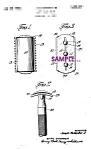 Patent Art: 1930s Gillette Safety Razor Blade - 8x10