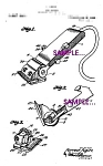 Patent Art: 1920s Electric Hair Clippers - 8x10- Matted