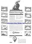 1929 Gillette Safety Razor - Shaving Ad
