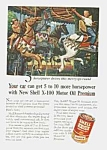 1955 Merry-go-round Shell Oil Ad