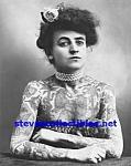 C.1907 Fully Tattooed Lady Side Show - Photo