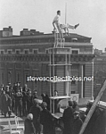 C.1923 Human Fly Thrill Show Balancing On Roof - Photo